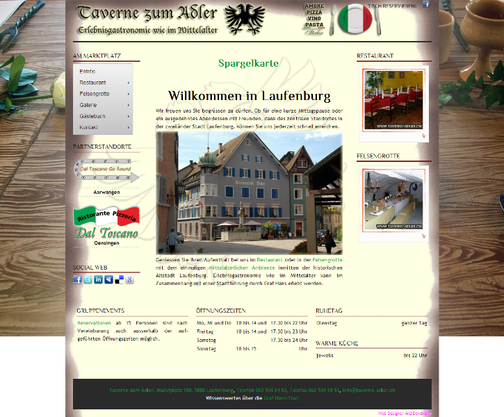 Ritteressen, Rittermahl, Erlebnisgastronomie wie im Mittelalter - Restaurant Taverne zum Adler - Laufenburg